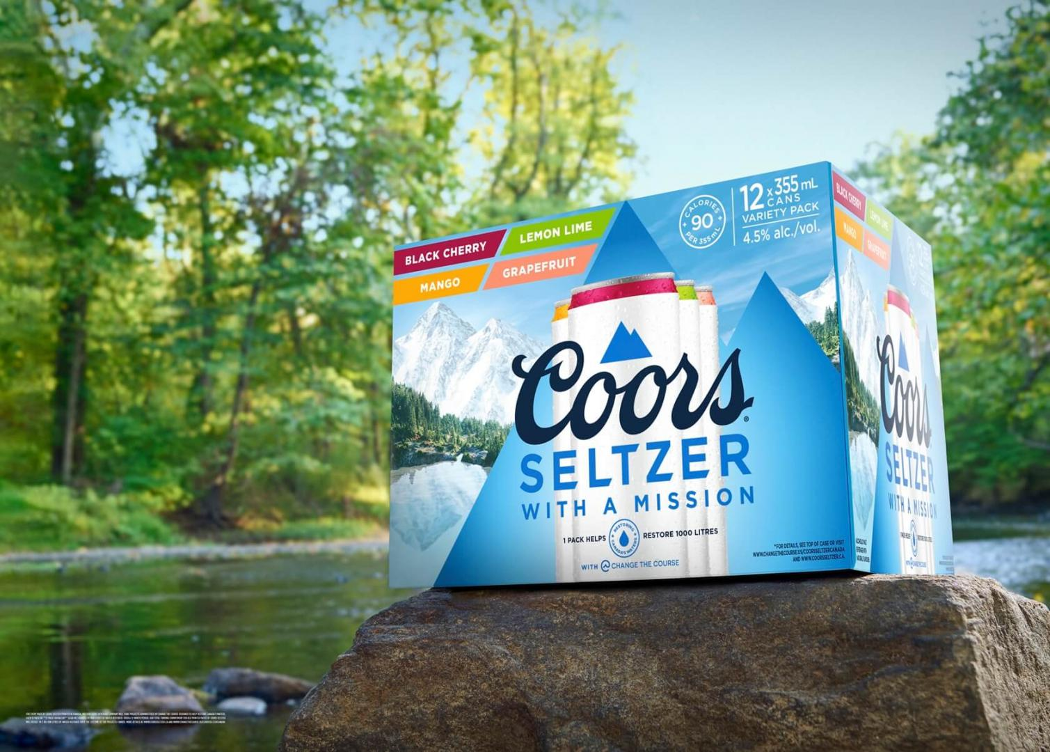 Coors Seltzer with a mission